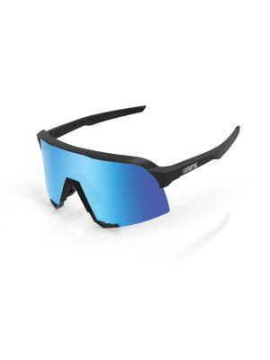 100% S3 Matte Black HiPER Blue Multilayer Mirror szemüveg