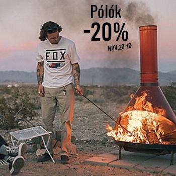 -20% MINDEN PÓLÓRA